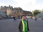爱丁堡城堡(Edinburgh Castle)前,今天唯一的照片,嘻嘻