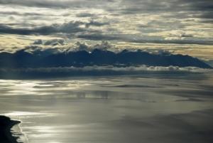 飛機即將降落Anchorage Airport