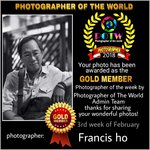 GOLD MEMBER OF THE WEEK by Photographer of the World Team